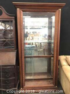 Grand Curio Cabinet, 4 Shelves Lighted