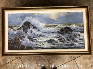 Signed Original Seascape Brilliant Colors