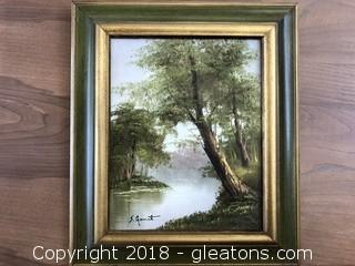 Signed Original by S. Garret Vintage Landscape 8 X 10""