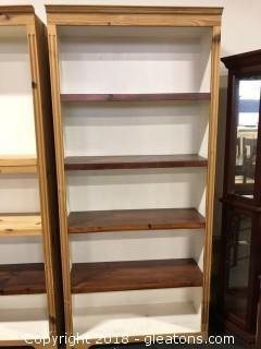 """Wooden Bookshelf 79 X 36"""" (A)"""