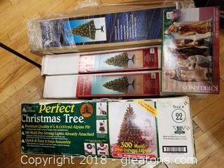 Christmas Lot With 4 Trees