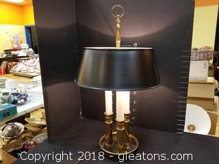 Lamp With Metal Shade