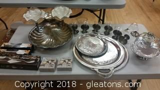 Silver Plate And Pewter Lot