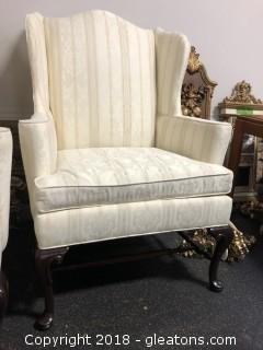 Hickory Chair Wing Back Arm Chair (B)