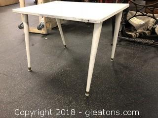 Retro Side Table, White