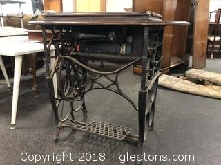 """Antique Sewing Machine And Stand """"New Royal A"""""""