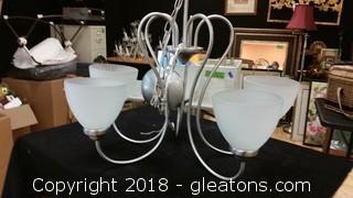 Brushed Chrome Ceilins Light