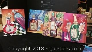 Set Of 4 Beverage Pics