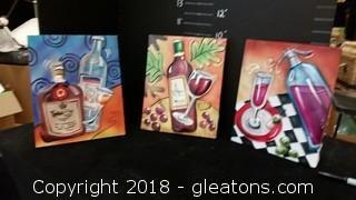 Set Of 3 Beverage Pics