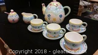 Tea Set Easter
