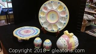 Easter Egg Plate+Accessories