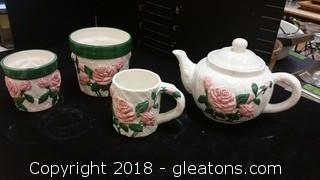 Rose Tea Pot Mug/Planters