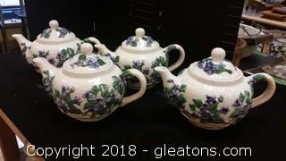 Violet Tea Pots