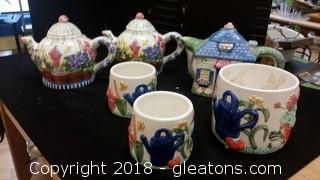 Tea Pots + Planters
