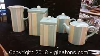 Cannisters Tea Pots + Pitchers