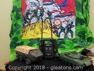 GI Joe Lot With Inflatable Fort