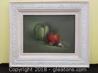 Hand Painted Pepper And Tomato