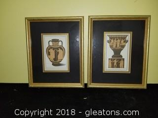 Urns Pictures Set Of 2