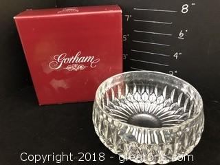 Gorham Althea Crystal Bowl New In Box