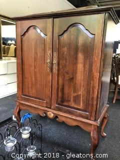 Solid Wood Small Entertainment Armoir
