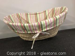 Modern Woven Basket With Liner