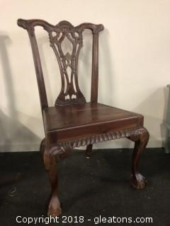 Solid Wood Ball And Claw Side Chair (C)