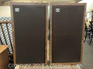 Pair Of Cerwin Vega Speakers D-3, Vintage