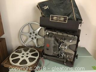 Vintage Devry Projector With Reel
