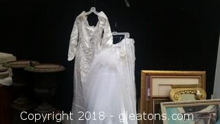 Wedding Dress Train With VEIL