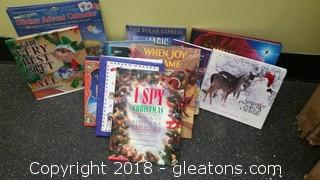 Assortment Childrens Christmas Books