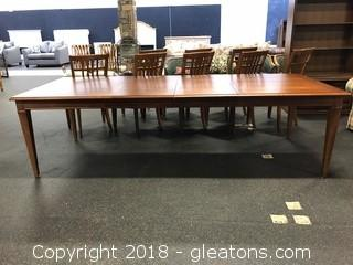 Thomasville Dining Table Two Leafs