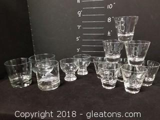 Miscellaneous Lot Of Small Glasses