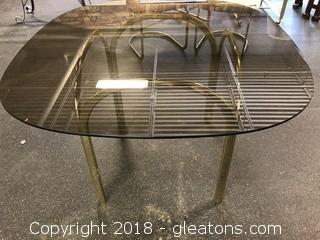 Smokey Glass Mid Century Dining Table Beautiful Small Table