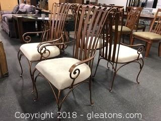 Dining Chairs Set Of Four Awesome Iron Detail