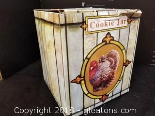 New In Box Rooster Cookie Jar