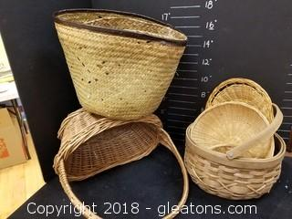 Baskets Lot Of 6