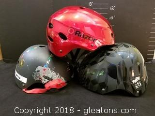 Kid's Bike Helmets Set Of 3