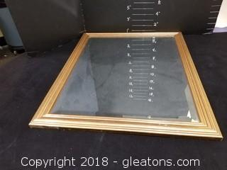 Beveled Mirror With Gold Frame
