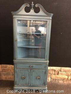 Restored Antique Thomasville Mahogany Corner Cabinet With Original Receipts (B)