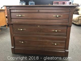 Antique Chest Of Drawers Three Drawers