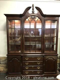Hand Crafted Harden China Cabinet