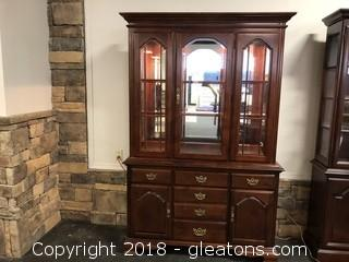 American Drew Two Piece China Cabinet