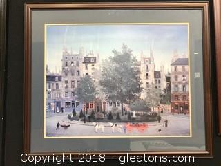 Large Framed Print French Village