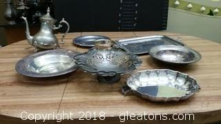 Various Pieces Plated Trays Non Stamped