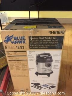 Blue Hawk 5 gal. Wet/Dry Vac          New, in box