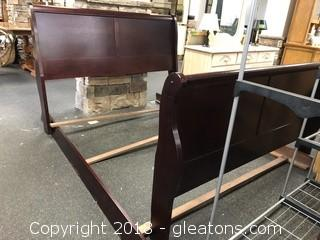 Sleigh Bed With Slats Queen
