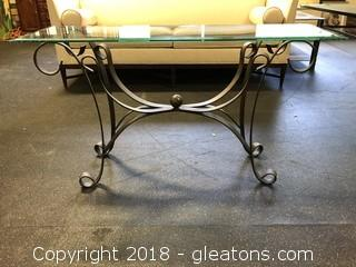 Glass Top Sofa Or Foyer Table