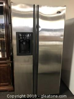 Stainless GE Side By Side Refridgerator Artic Modle