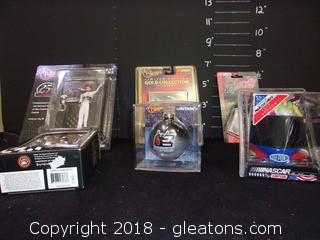 6-Boxed Race Car Collectibles