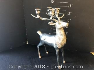 Large Deer Candle Holder Holds 4 Candles